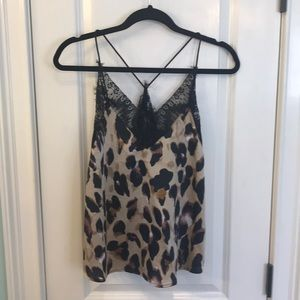 Leopard print camisole